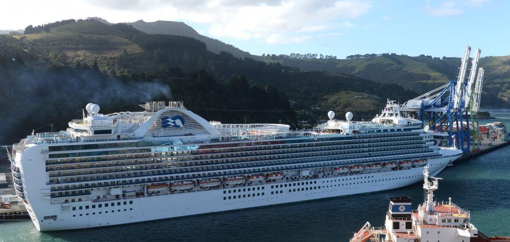 The Emerald Princes at Port Chalmers earlier this month. Photo: Linda Robertson
