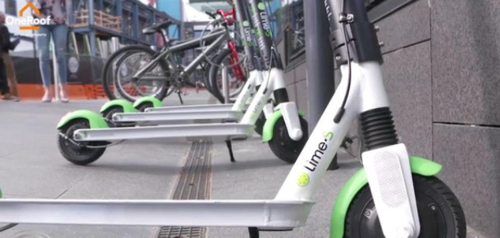Lime e-scooters arrived on the streets on Monday, with 600 scooters distributed across Auckland...