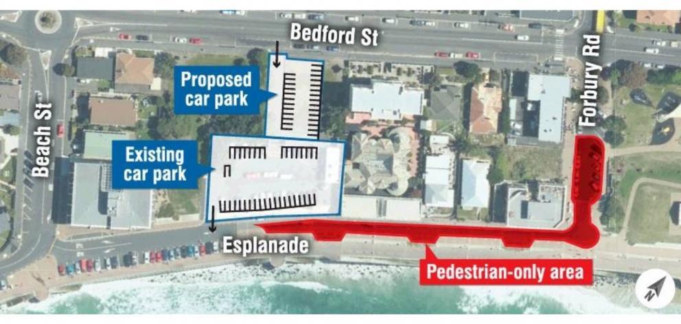 A graphic of the Esplanade pedestrianisation proposal.