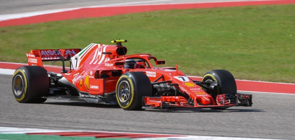 Ferrari driver Kimi Raikkonen at the Formula 1 United States Grand Prix. Photo: Getty Images