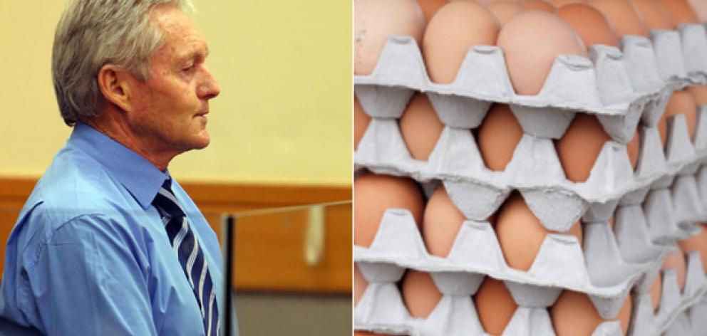 John Garnett was sentenced to 12 months' home detention for passing off 2.47m eggs as free range when they weren't. Photo / Northern Advocate