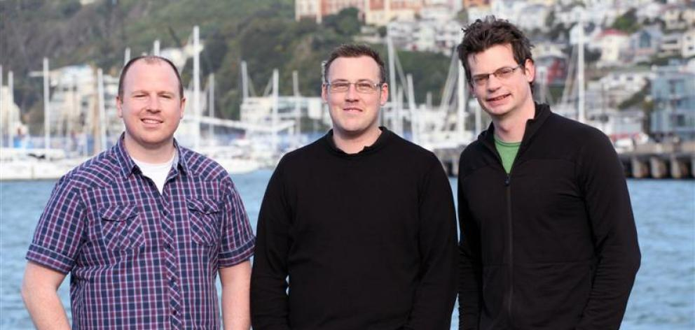 Will Berger (left), Ryan Baker and Andrew Schofield have  developed an appointment management system which is being used both domestically and internationally. Photo supplied.