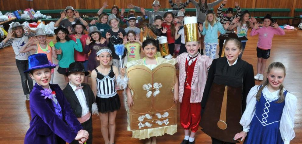Music theatre pupils show off some of their costumes for  tonight. Photo by Gerard O'Brien.