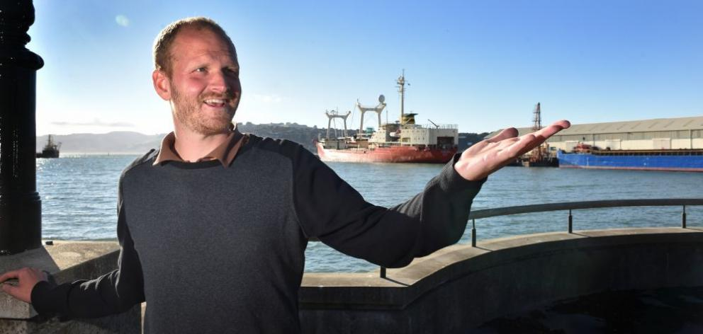 German academic Jan Wilhelm says while Dunedin should work towards a stronger connection with its harbour, the industrial character of the area should  not be lost. Photo: Peter McIntosh