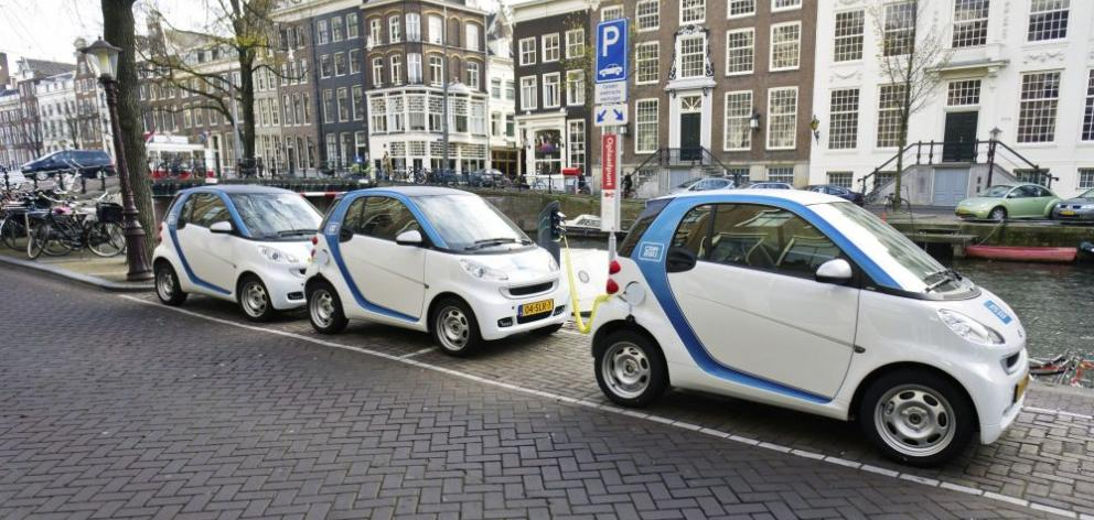 Amsterdam is part of the electric Car2Go network that now has a million members with access to 12,000 vehicles. Photo: Getty