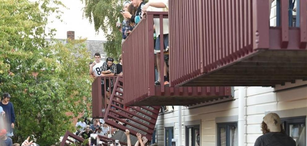 About 1500 people were at the concert on Friday when the balcony gave way. Photo: Gregor Richardson