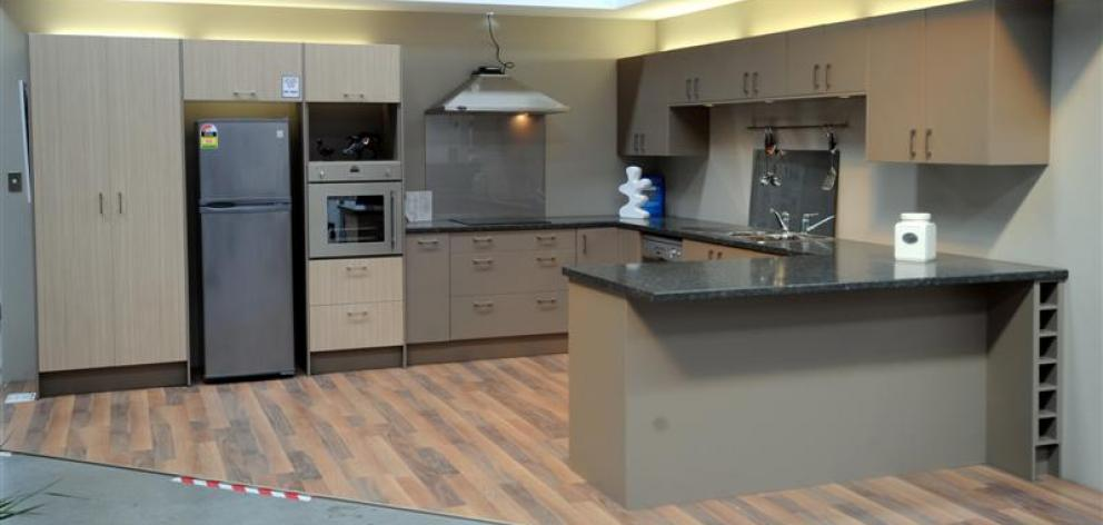 Delightful This Display Kitchen At Mitre 10 Mega Costs About $8200 (for The Cabinets  And Bench Photo