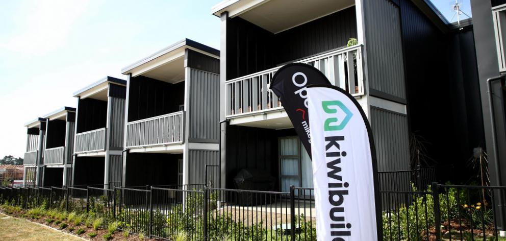 KiwiBuild住宅今年早些时候在奥克兰开业。照片:Getty Images