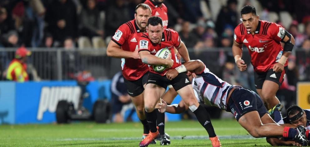 Ryan Crotty scored the final try for the Crusaders and went on to convert it. Photo: Getty Images