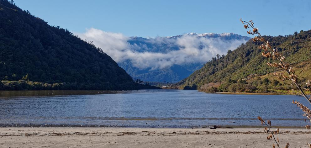 The Mokihinui River looking towards Kahurangi National Park. Photo: Getty Images