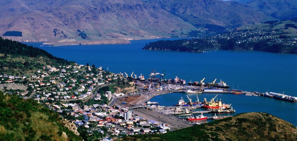 Lyttelton port on Banks Peninsula. Photo: Getty Images