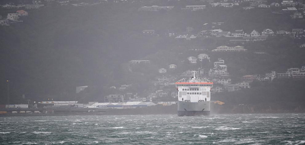 Cook Strait passenger ferry sailings were cancelled as swells of up to 6m were forecast. Photo:...