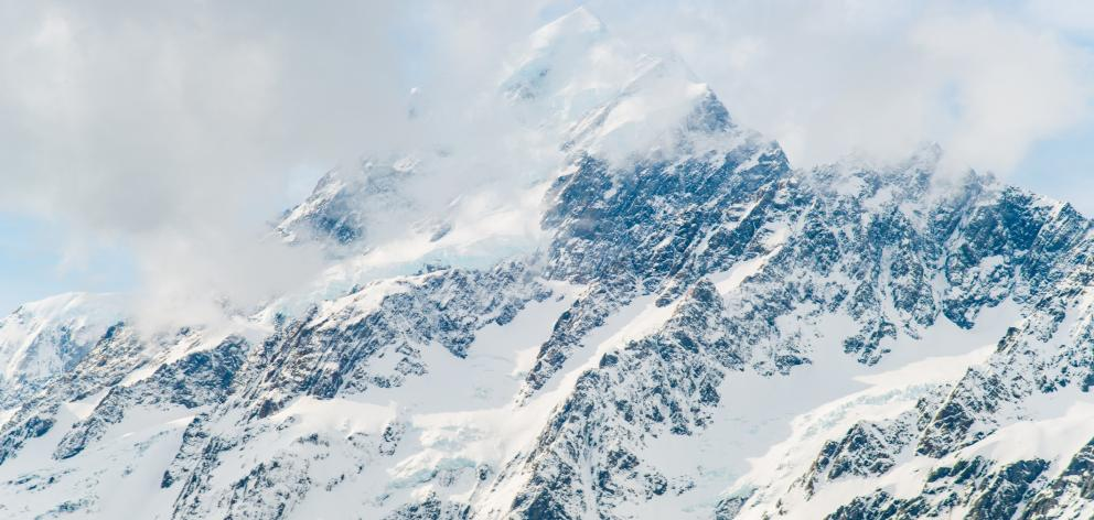 Higher parts of the mountains from Mt Cook (pictured) to Fiordland were likely to get 3m of snow....