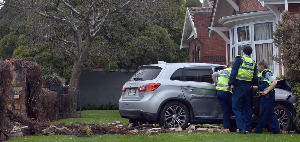 Emergency services were called to the property in  Great King St North on Friday night. PHOTO:...