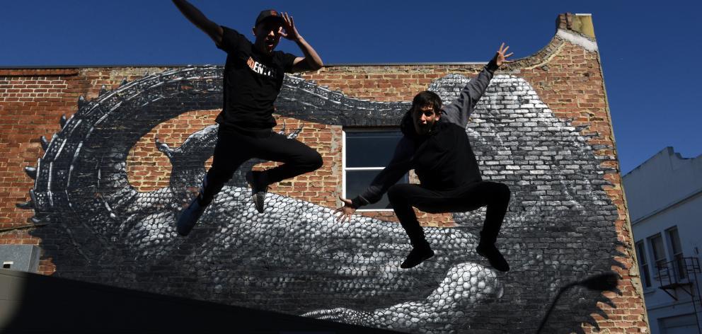 Dancers Josh and Andrew Cesan. Photo: Gerard O'Brien