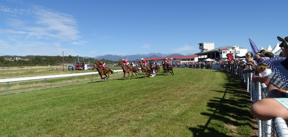 Thousands turned out for the races in Hokitika,. Photo: Greymouth Star
