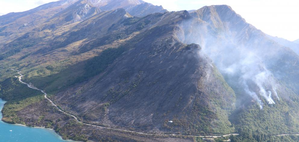About 150ha of native scrub and other vegetation was destroyed after a fire broke out at Rat...