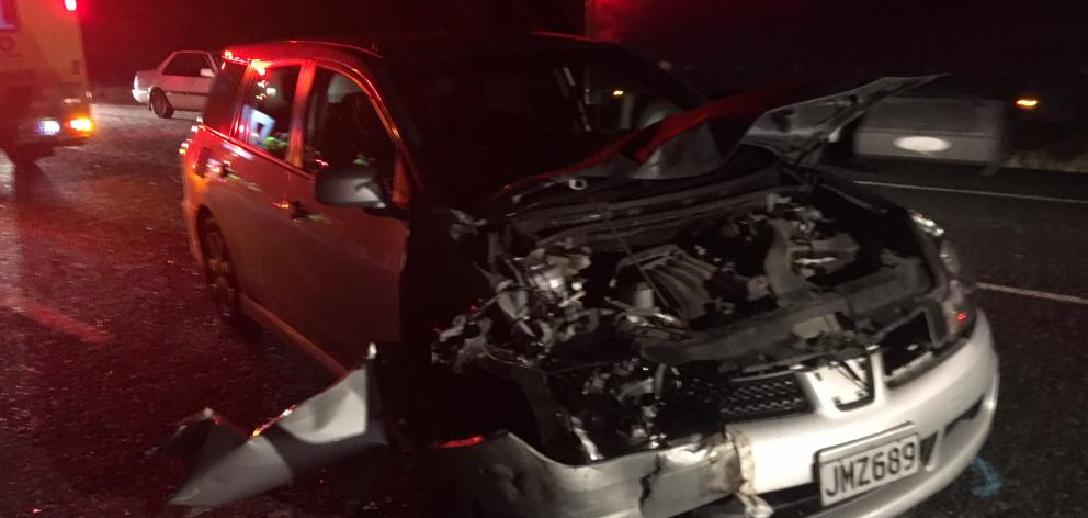 The collision happened at the intersection of the Clyde Alexandra Rd and Airport Rd. Photo: Tom...