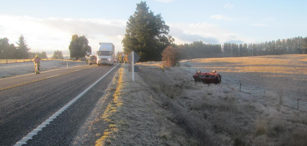 The crash happened on Morris Rd between Wanaka and Luggate. Photo: Mark Price