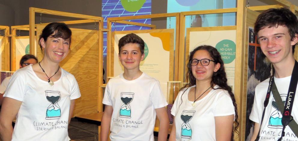 Opening day of the youth-led climate change exhibition. Otago Museum science engagement co...