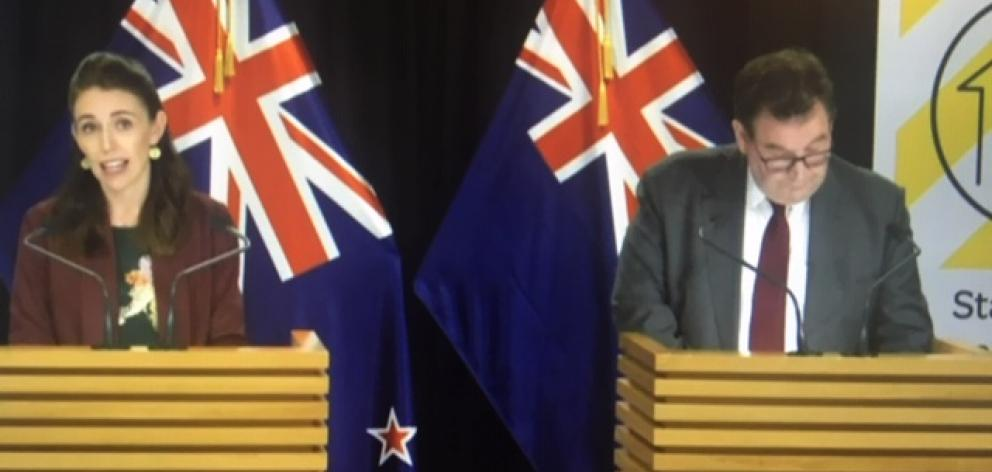 The Prime Minister was joined by Finance Minister Grant Robertson today.
