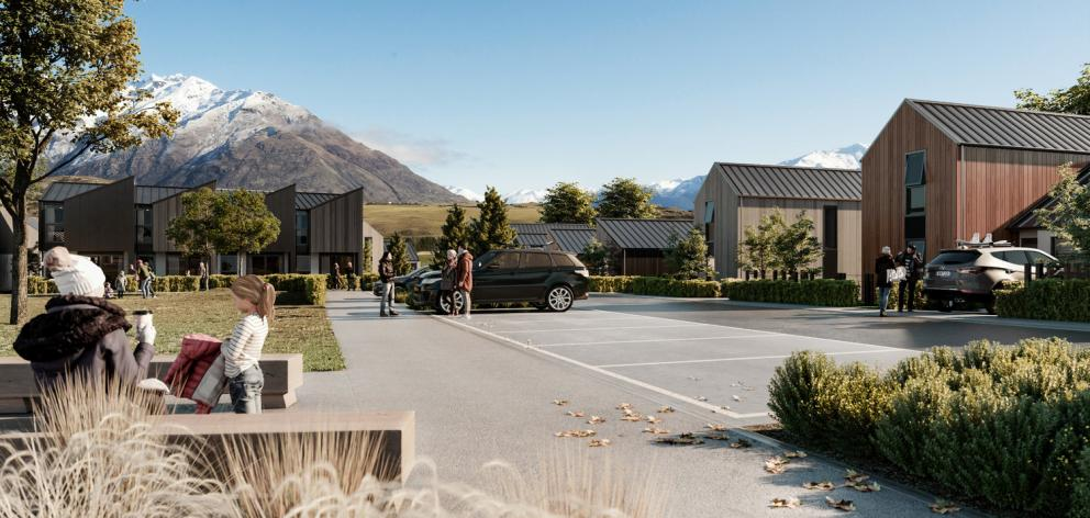 An artist's impression of the Jack's Point streetscape. Photo: Jack's Point Village