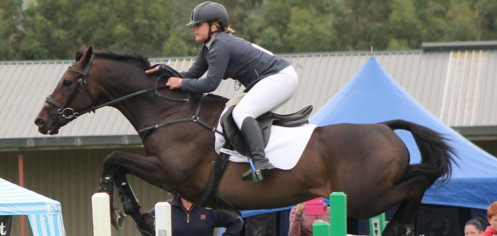 Kimberleigh McCabe and horse Kace in action earlier this year. Photo: Jess Paul