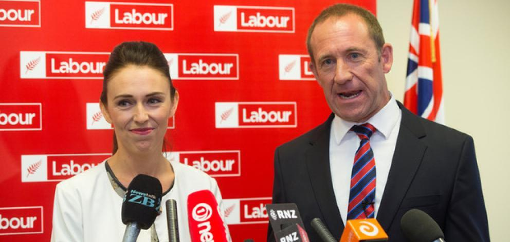 Billboards featuring Jacinda Ardern with Andrew Little will be removed. Photo: NZ Herald