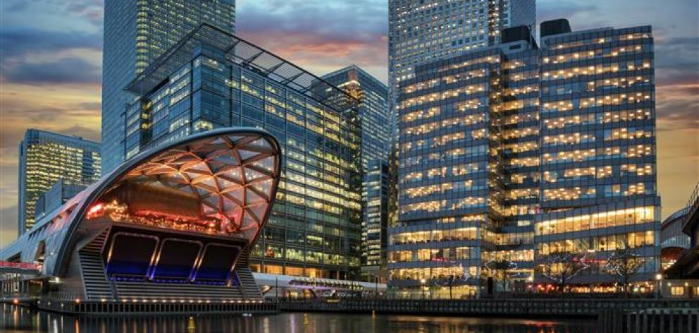 The financial district Canary Wharf in London. Photo: Getty Images