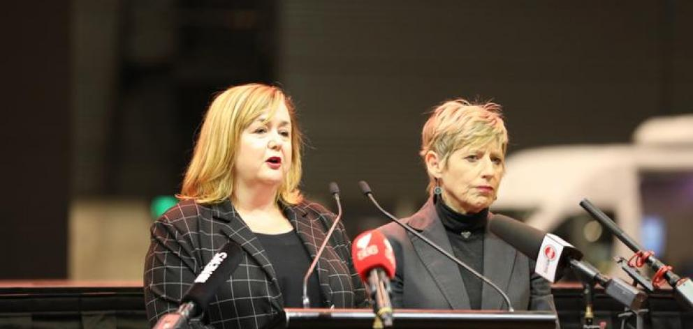 Government minister Megan Woods and Christchurch mayor Lianne Dalziel briefed media today about...