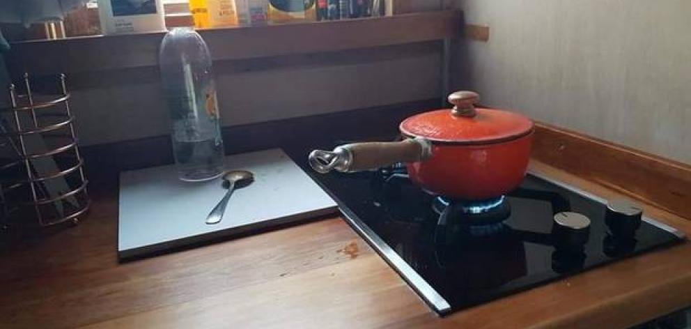 Tenants have access to a gas stove inside the home. Photo: supplied
