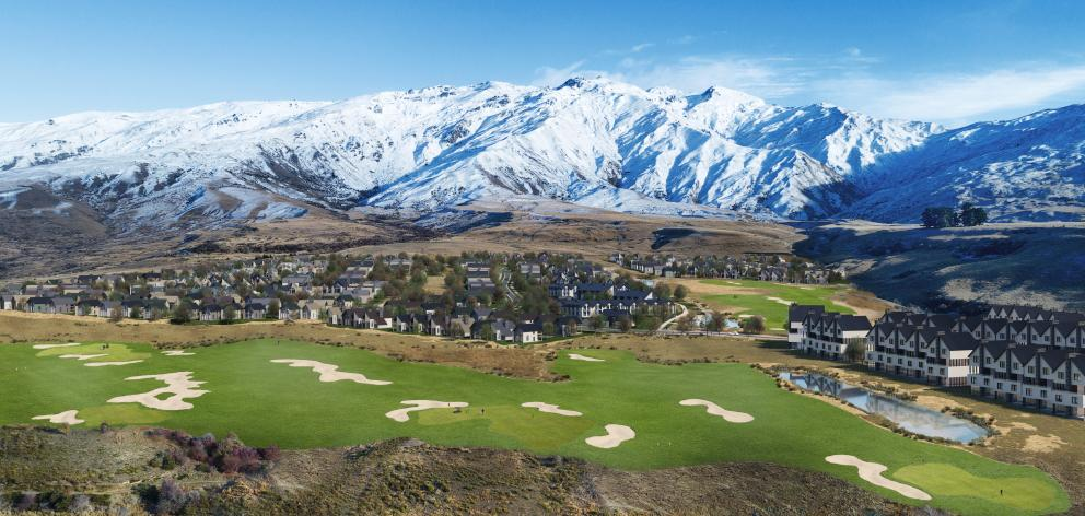 The proposed Mt Cardrona development with the Cardrona Alpine Resort in the background. Image:...