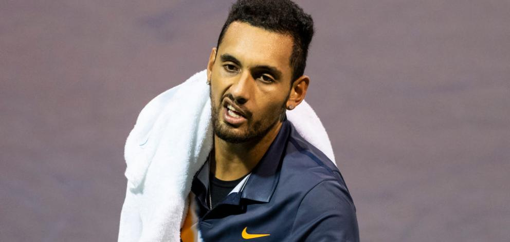 Nick Kyrgios hasn't made the last eight at a major in almost four years. Photo: Gerry Images