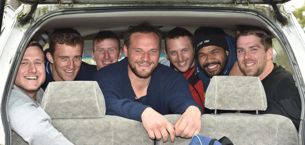 All ready to head to Oamaru for one of the last times this season are (from left) Jacob Coghlan,...