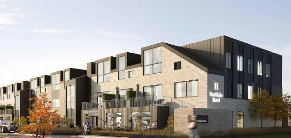 An artist's impression of a proposed hotel in Wanaka's Northlake special zone. Photo: Supplied