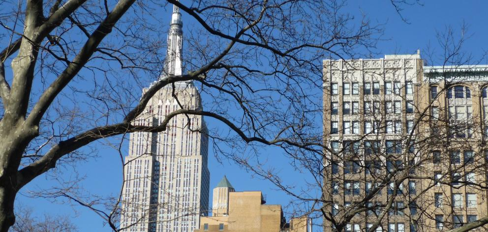 The 102-storey Art Deco Empire State Building is visible from many points around New York. PHOTO: HELEN SPEIRS