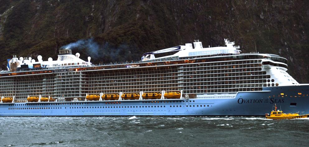 The ship is the fourth biggest in the world and can carry up to 4905 passengers and 1500 crew....
