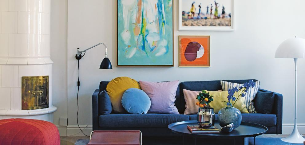 Furniture, artwork and cushions can all add pops of bold colour to your room.