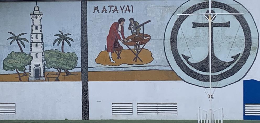 Mahina school mural near Point Venus.