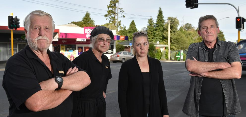 Staff and owners of Wakari businesses (from left) Tony and Heather Cummings, Jo Stacey, and...