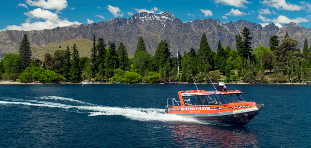 Queenstown Water Taxi's custom-built 36-seat boat pictured on Lake Wakatipu. Photo: supplied