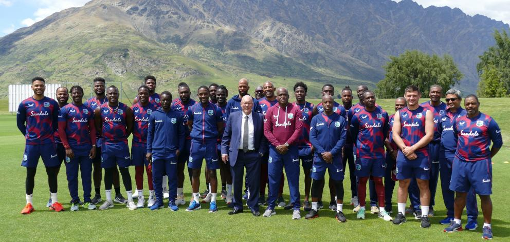 Members of the West Indies cricket team, Queenstown's first international visitors in eight...