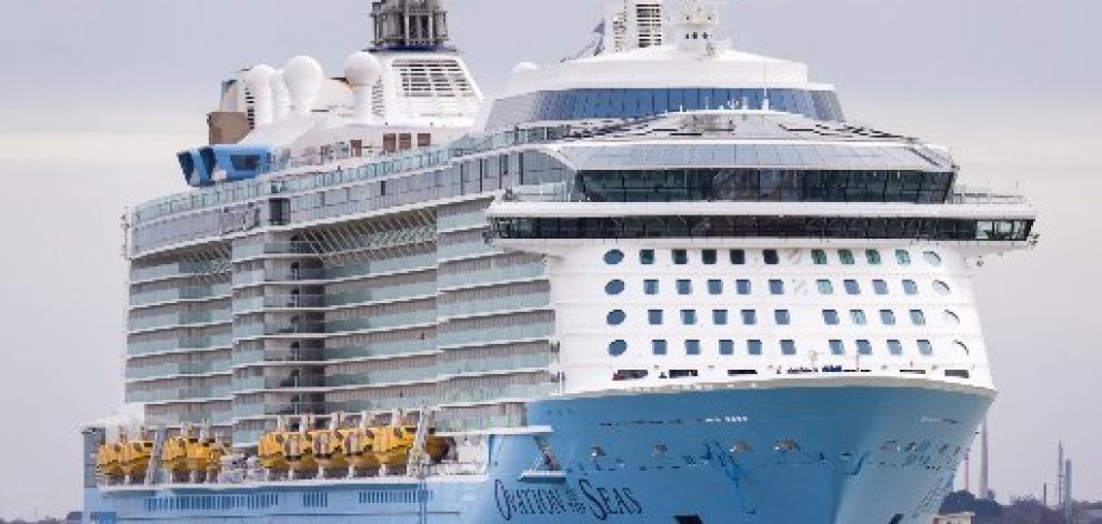 Passengers on the Ovation of the Seas were among the tourists on Whakaari/White Island on Monday...