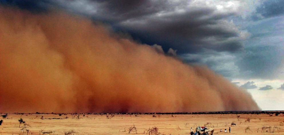 Dust clouds were also factors that made air quality less clean and healthy in some nations...