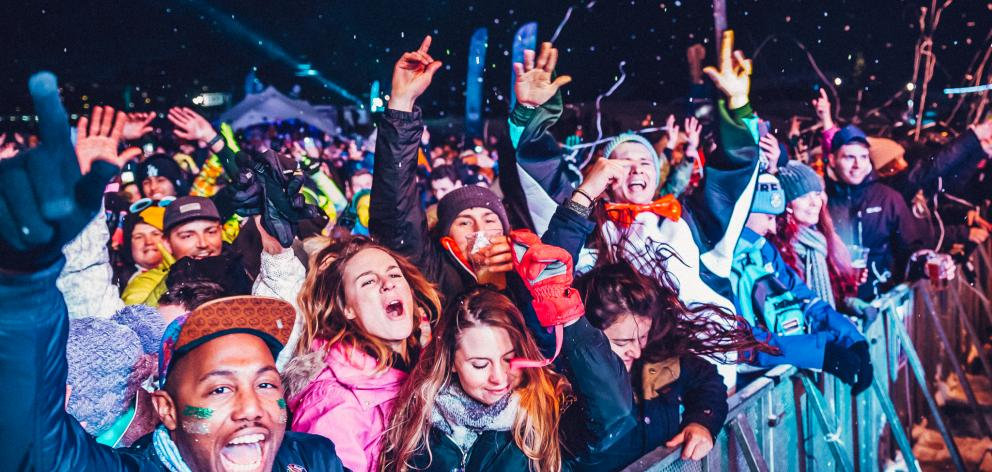 The crowd at Snowboxx 2018, in Europe. Photos: Supplied
