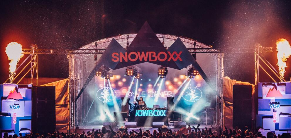 The stage at Snowboxx 2018.