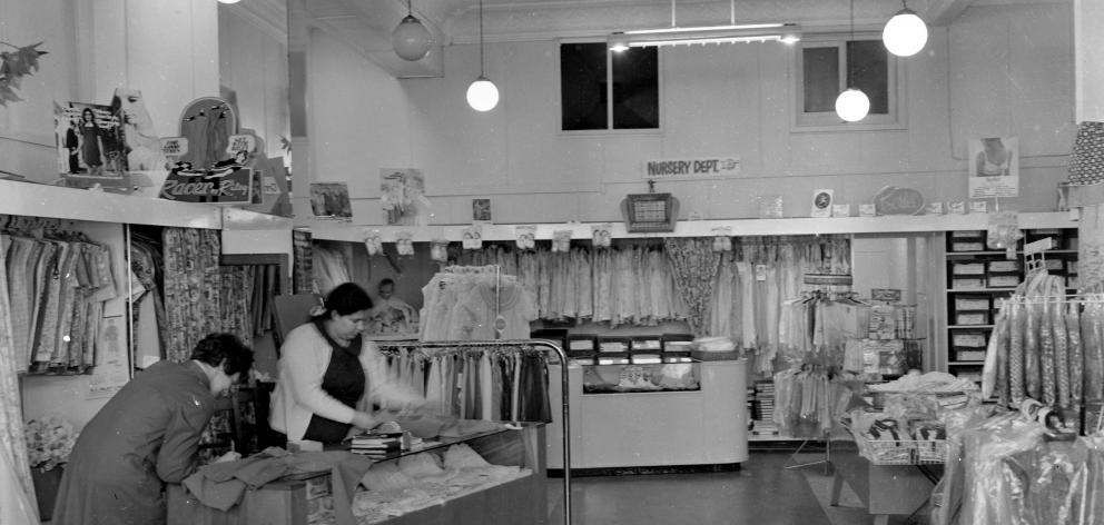 The interior of the Wolfenden and Russell work space, about 1970. PHOTO: EVENING STAR