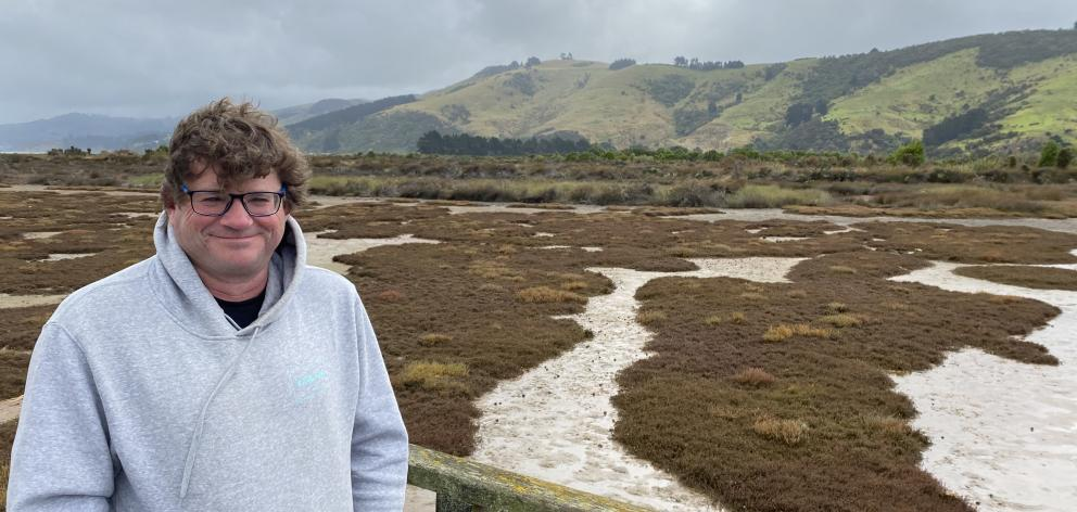 Aramoana Conservation Charitable Trust chairman Bradley Curnow surrounded by the extraordinary...