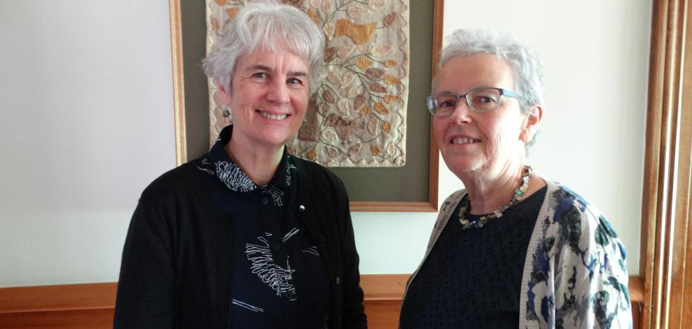 Abbeyfield New Zealand executive officer Susan Jenkins (left) and Dunedin committee member Margy...