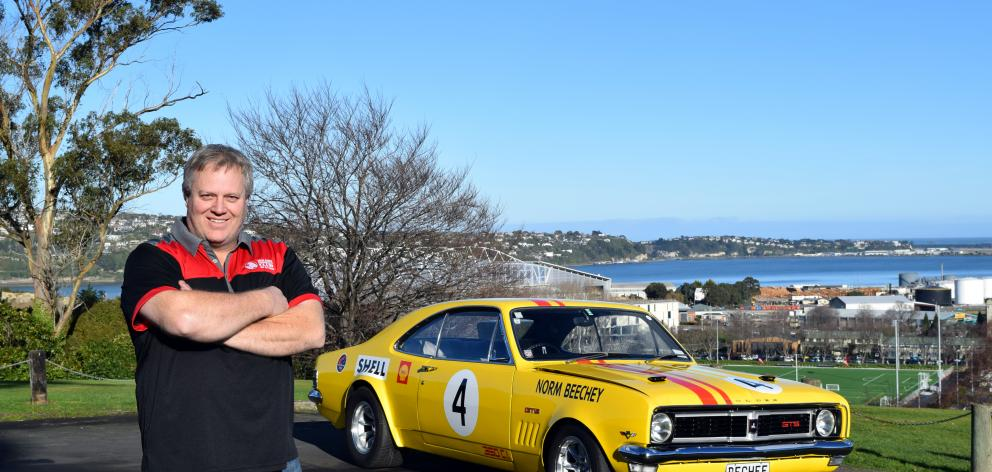 Dave Bouman, of Dunedin, and the 1969 Holden HT Monaro GTS he restored. PHOTO: SHAWN MCAVINUE
